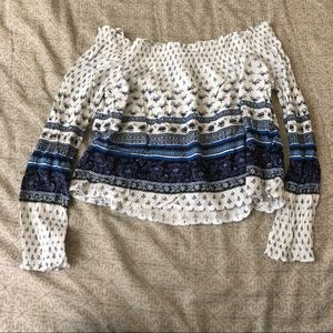 H&M Off the Shoulder Crop Top